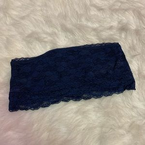 🌑 VS PINK navy blue lace bandeau 🌑